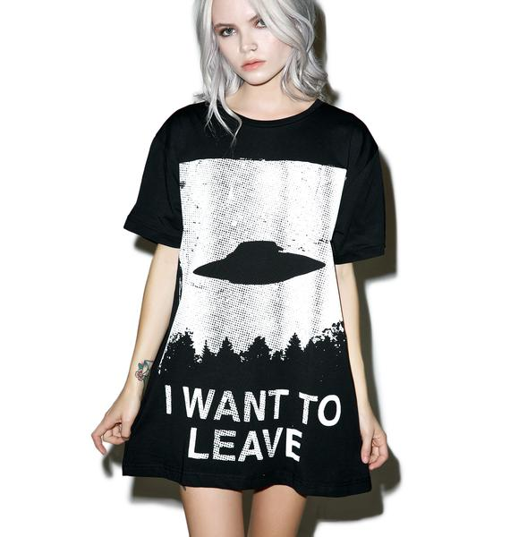 Disturbia I Want To Leave T-Shirt