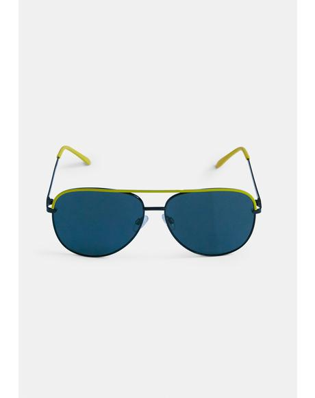 Sidewalk Slam Aviator Sunglasses