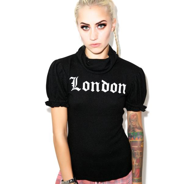 Wildfox Couture  I Love London Edwardian Sleeve Turtleneck