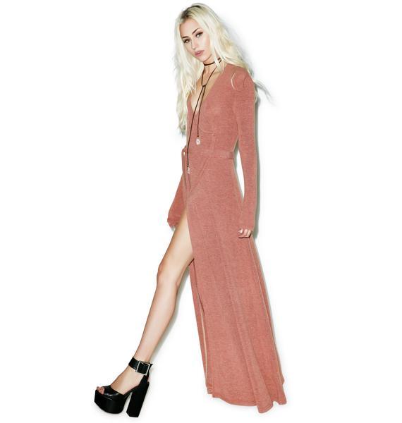 Somedays Lovin Diner Rib Maxi Wrap Dress