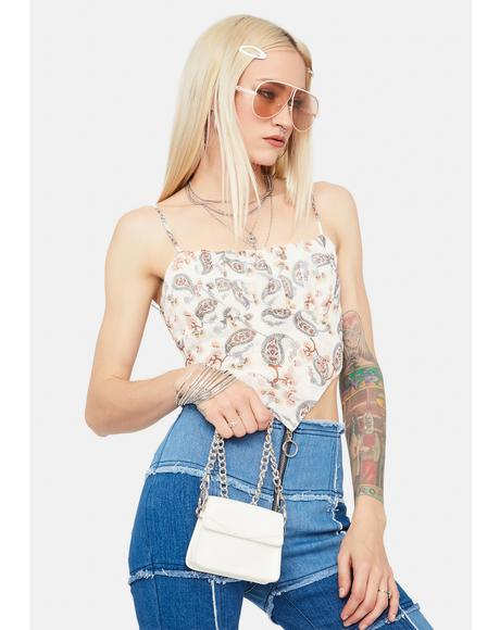 Finally Found You Paisley Crop Top