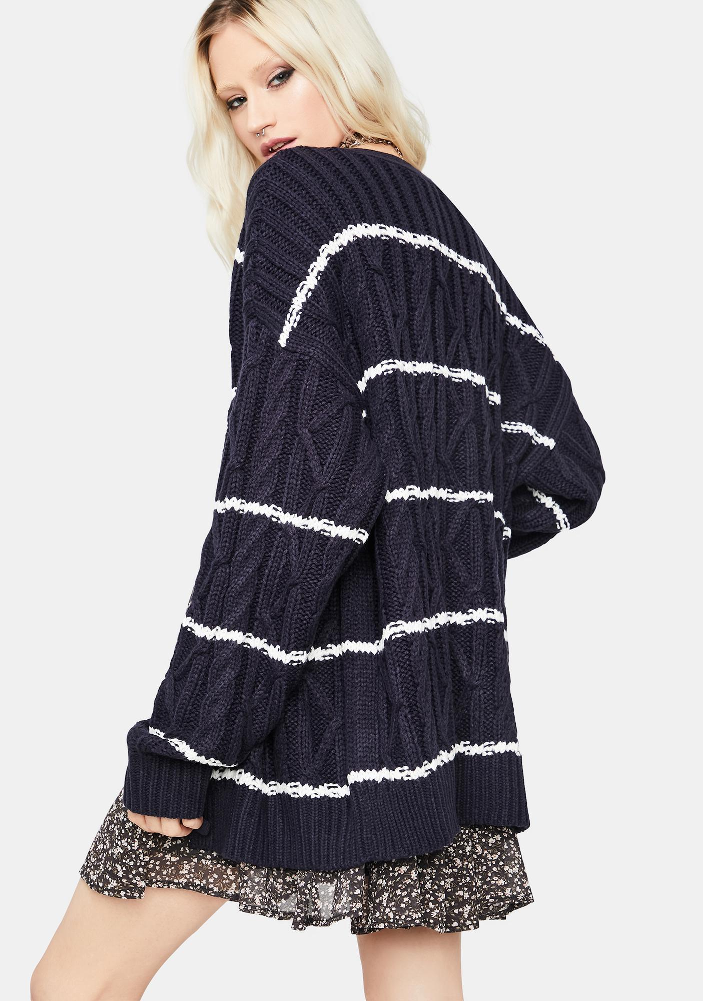 In Your Eyes Striped Cardigan