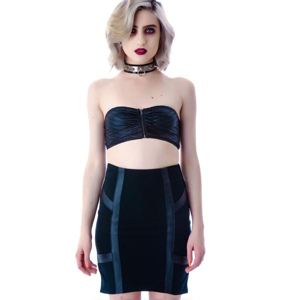 Lip Service Commodity Veggie Leather Skirt