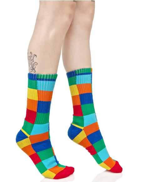 Loud Shapes Crew Sock