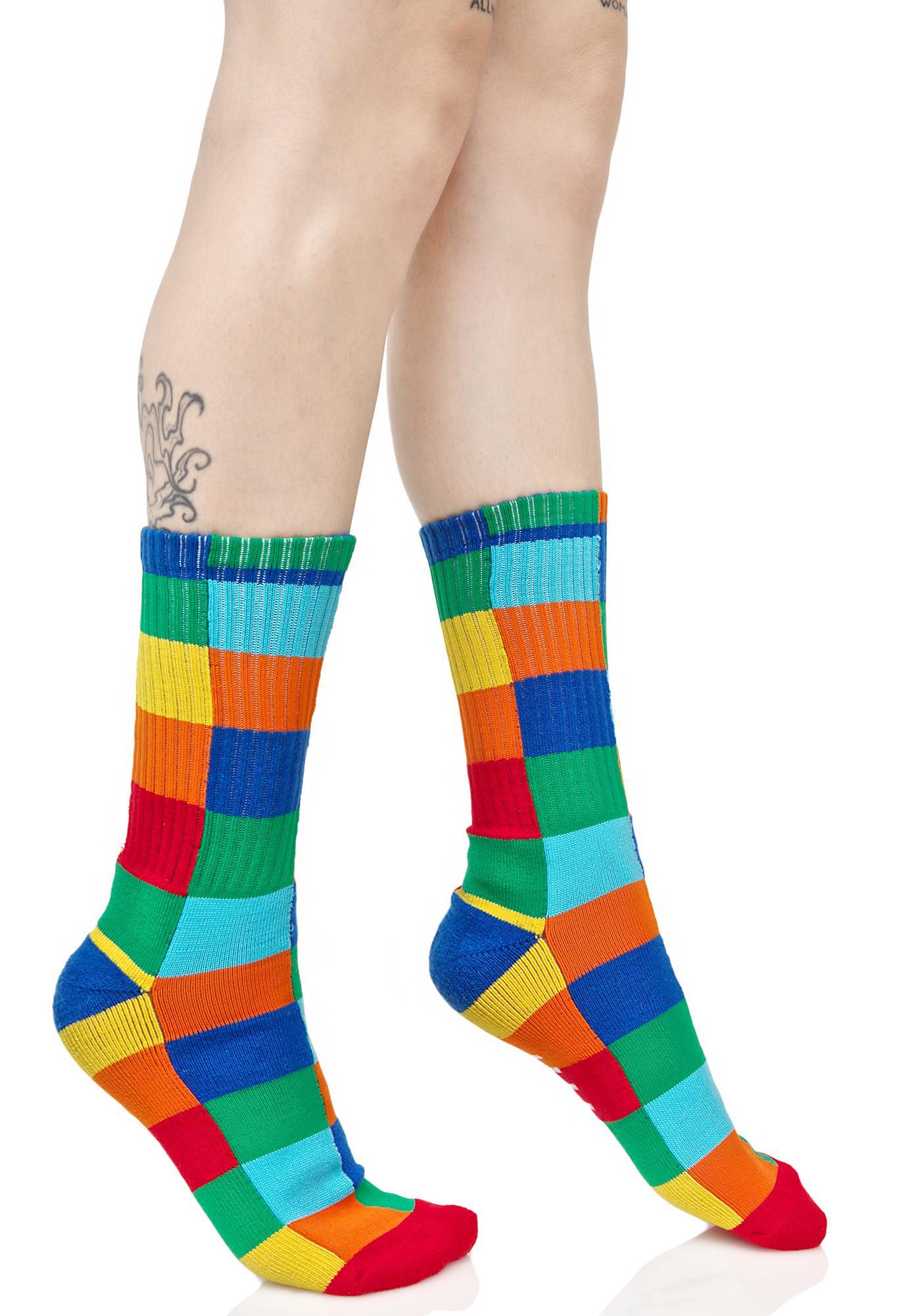 HUF Loud Shapes Crew Sock