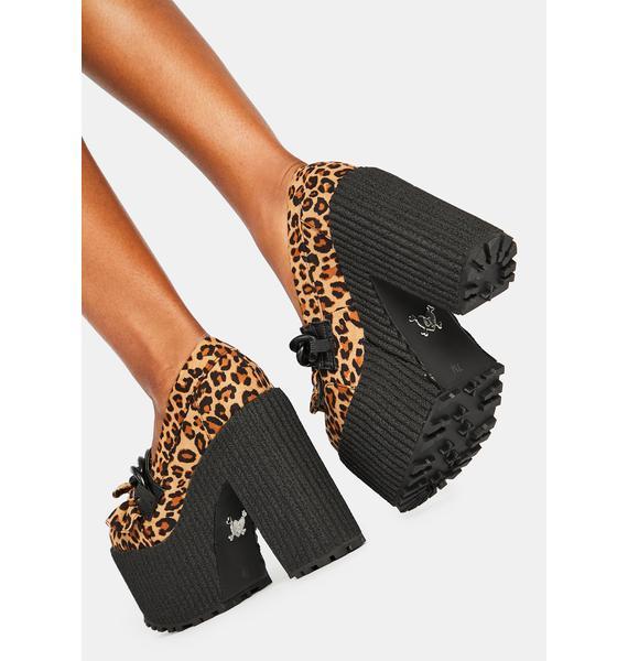 Charla Tedrick Poshpunk Leopard Platform Loafers