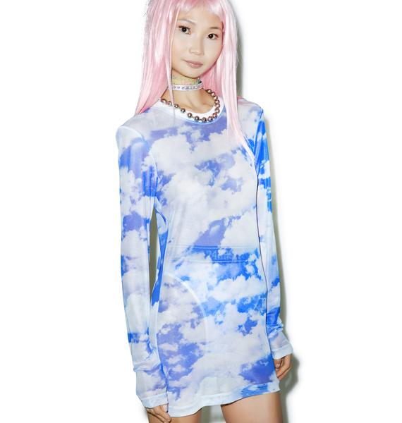 24HRS Caught In Clouds Long Sleeve Dress