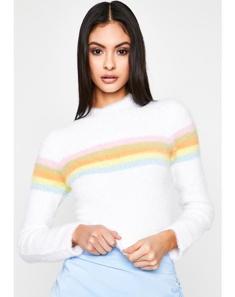 Fairy Floss Mock Neck Sweater