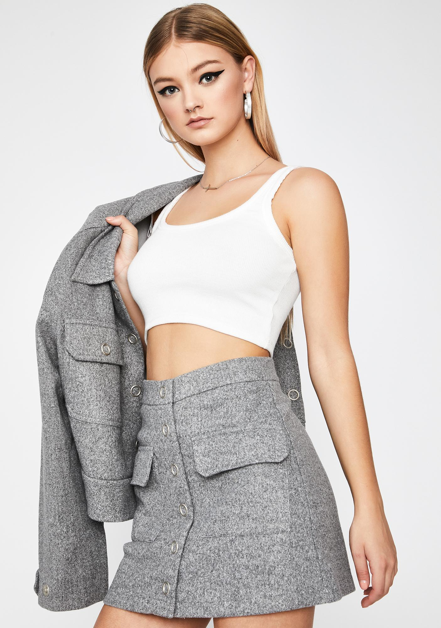 Dean's List Wool Skirt