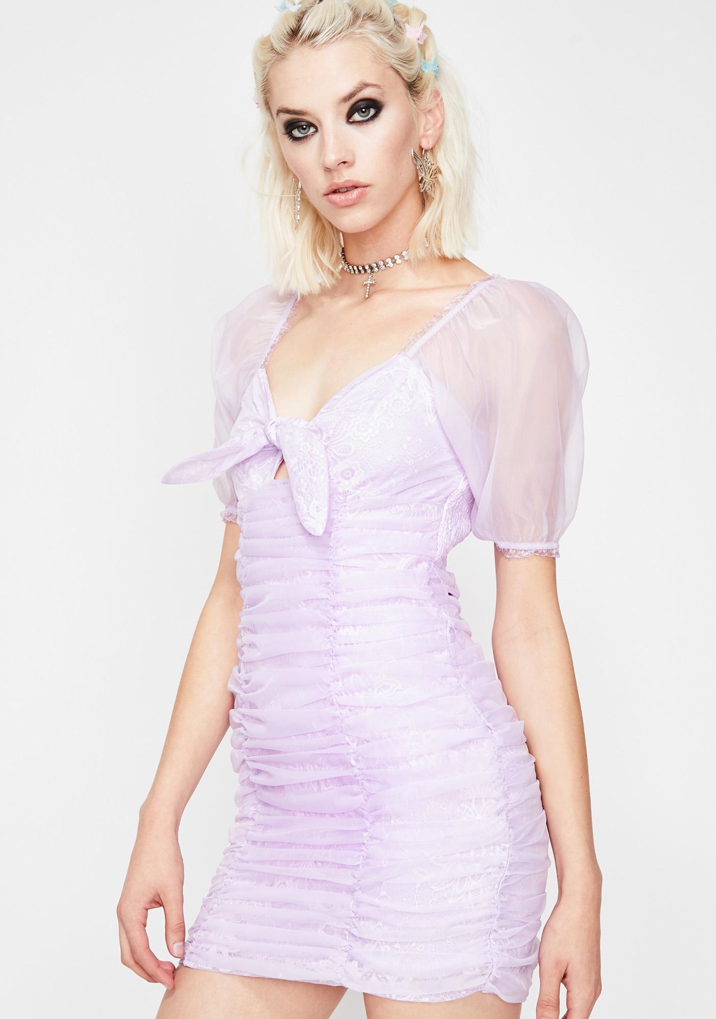 Sweet Heavens Ruched Dress