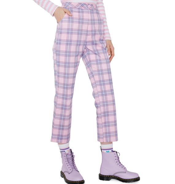 Lazy Oaf Bow Bum Check Trousers