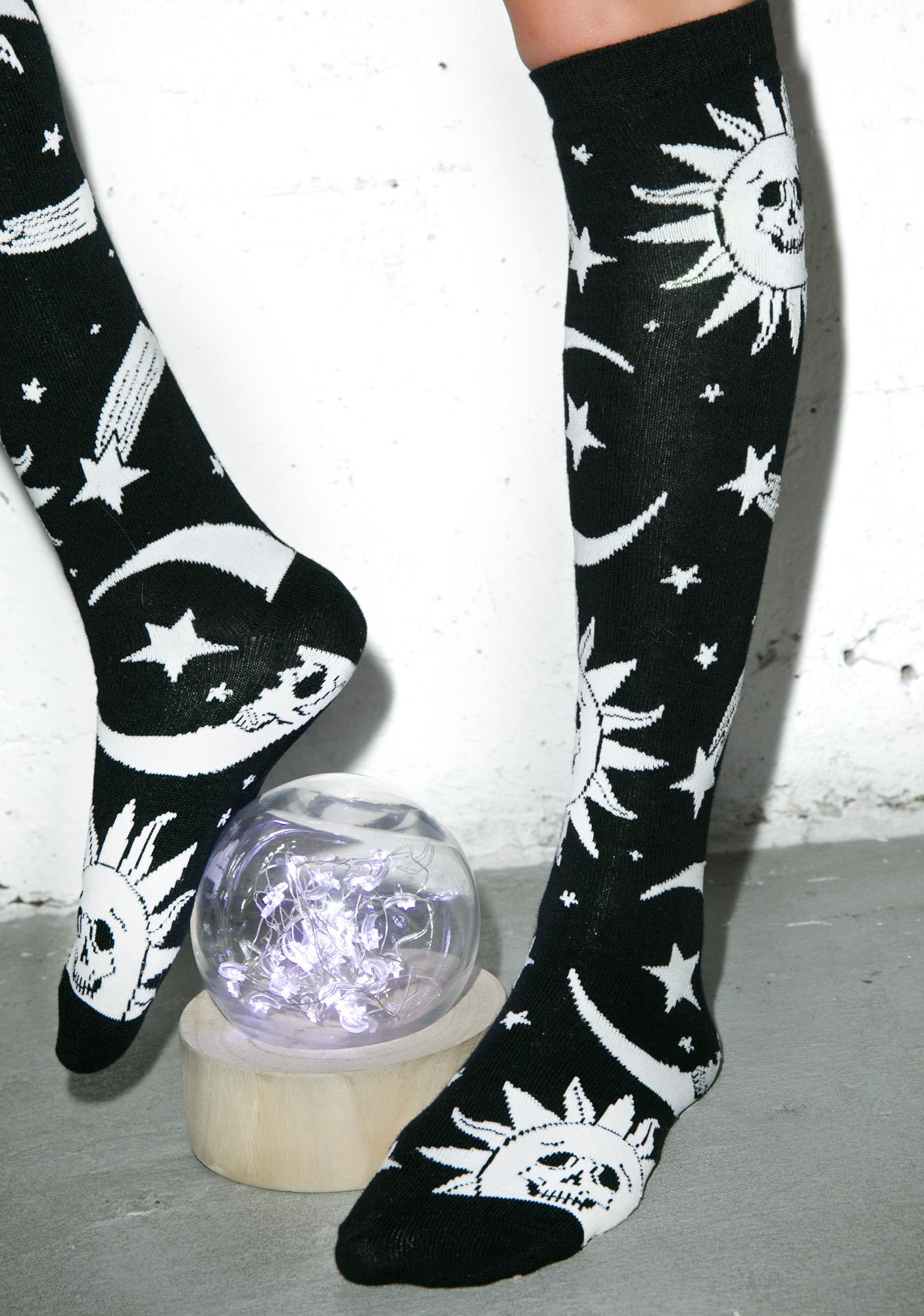 Killstar Cozmic Death Socks