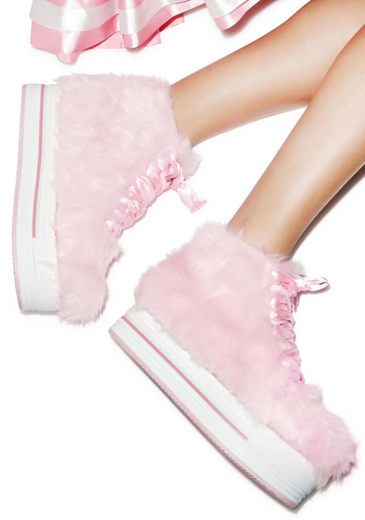 Y.R.U. Elevation Fur Platform Sneakers