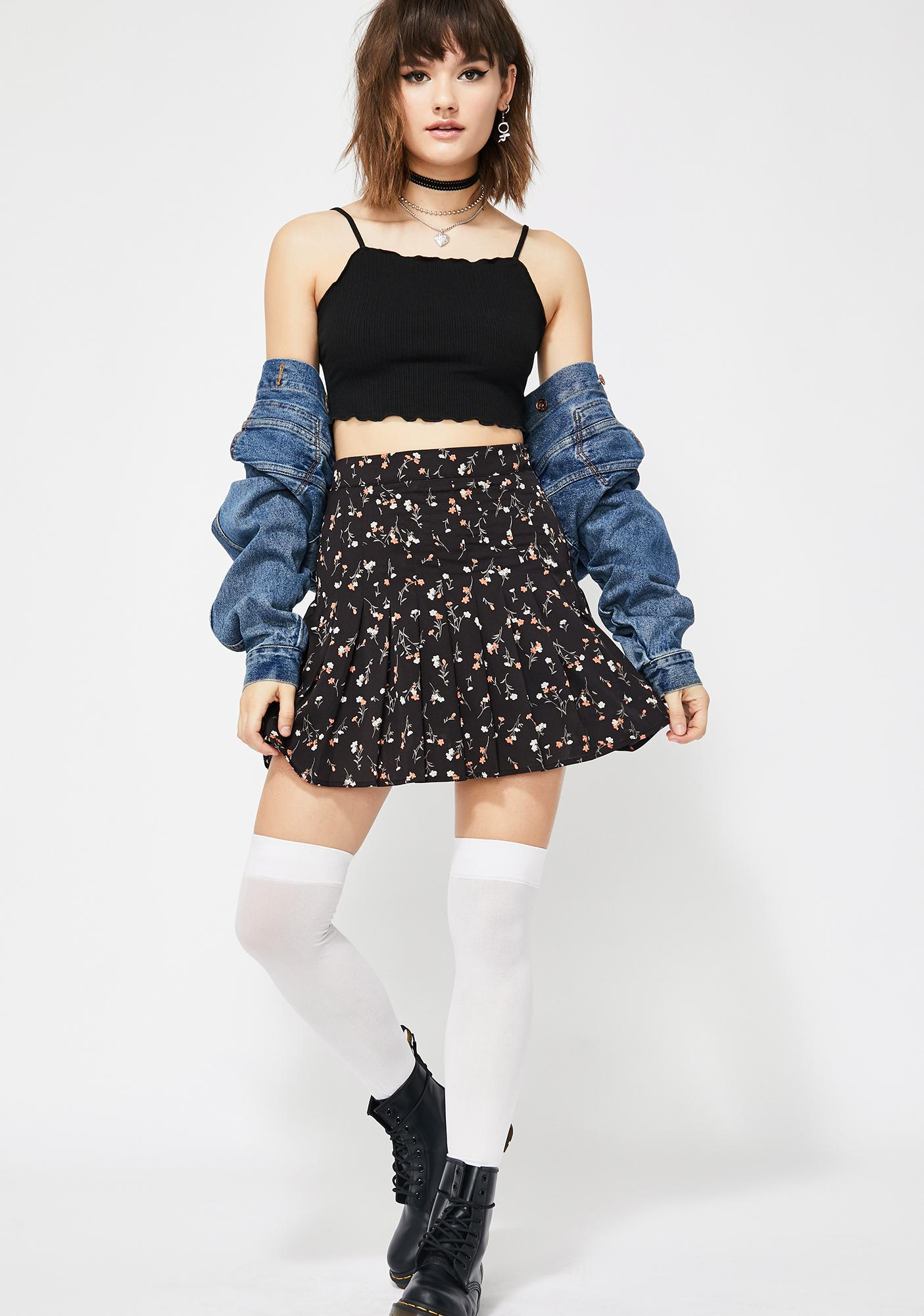 Midnight Frolic Fantasy Pleated Skirt