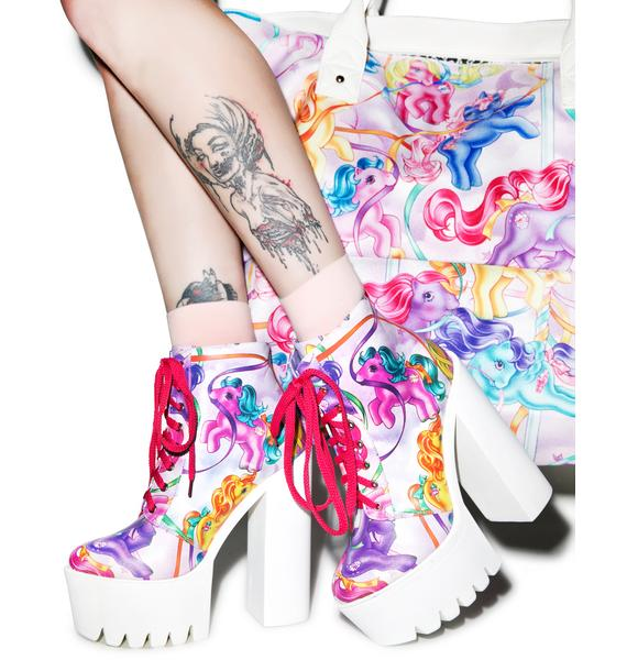 Iron Fist My Little Pony Merry Go Round Platform Boots