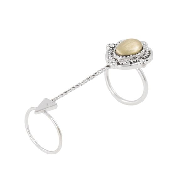 Vanessa Mooney Empire Double Chain Ring