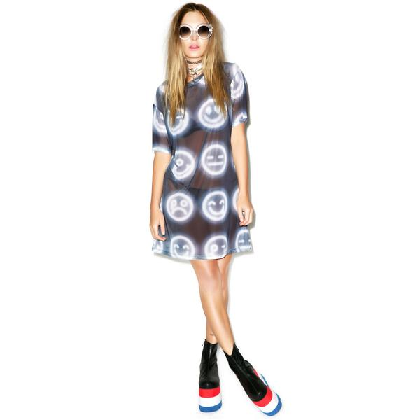 Coveted Society Neon Lights Emoji Tee