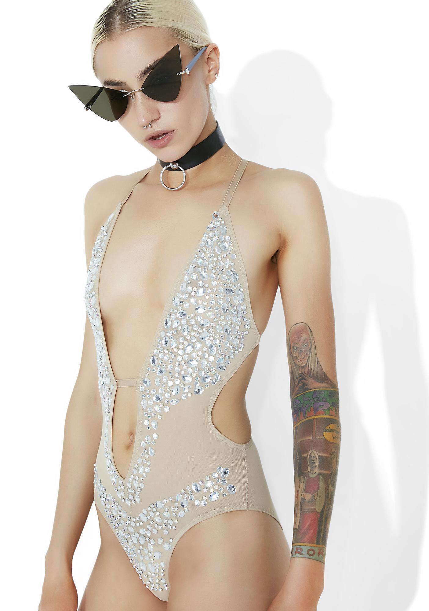 Kiki Riki Crystalline Dreamz Sheer Bodysuit