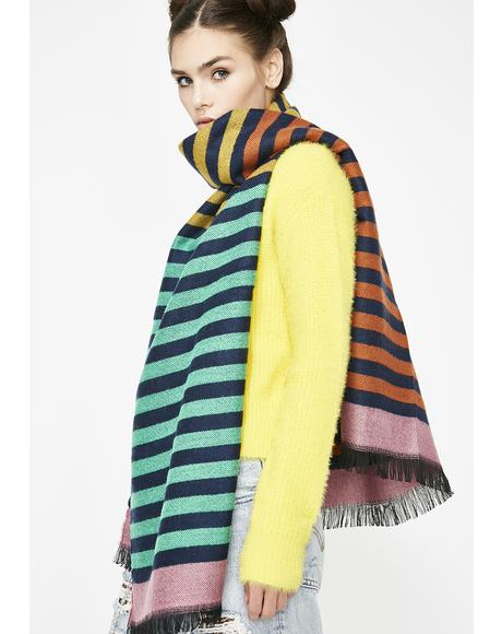 Chromatic Chaos Striped Scarf