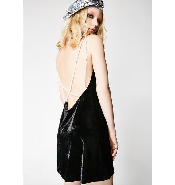 Motel Velvet Pearl Tori Dress