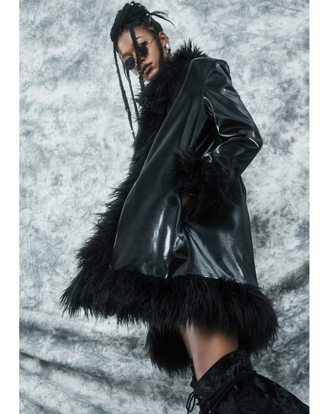 Total Eclipse Faux Fur Coat