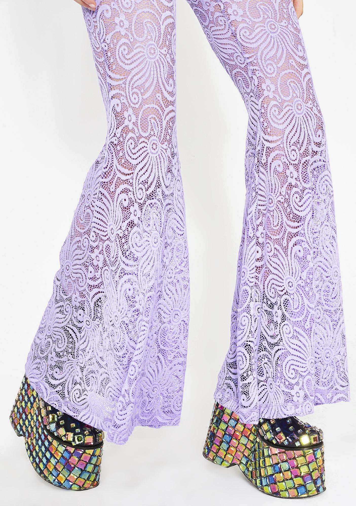J Valentine Magic Cyclone Lace Bell Bottoms