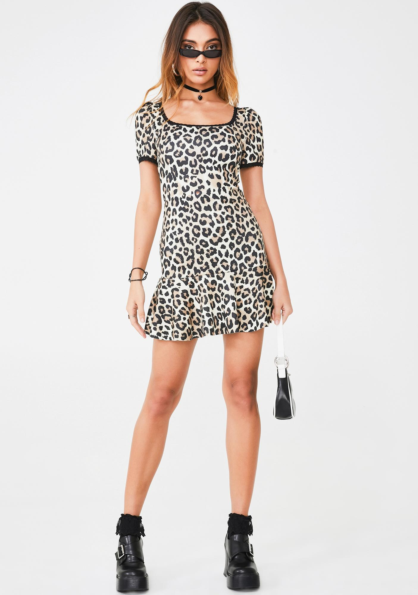 Current Mood Hot Blooded Leopard Dress