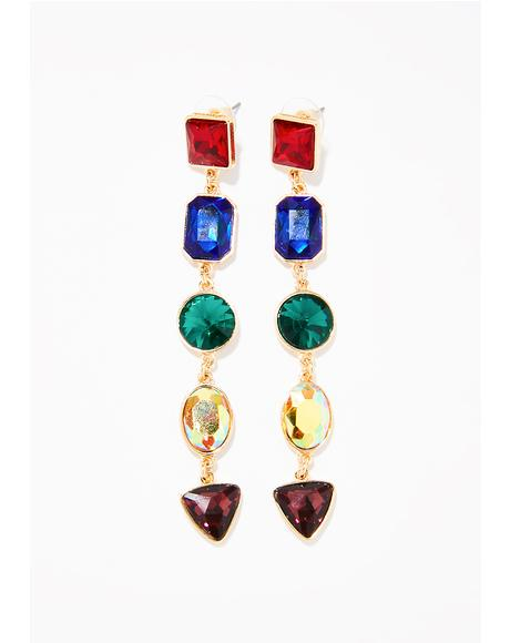 Chakras Aligned Gem Earrings