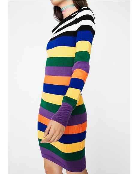 Rainbow Thang Bodycon Dress