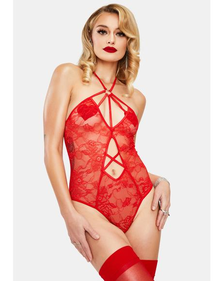 My Deepest Desire Strappy Lace Teddy