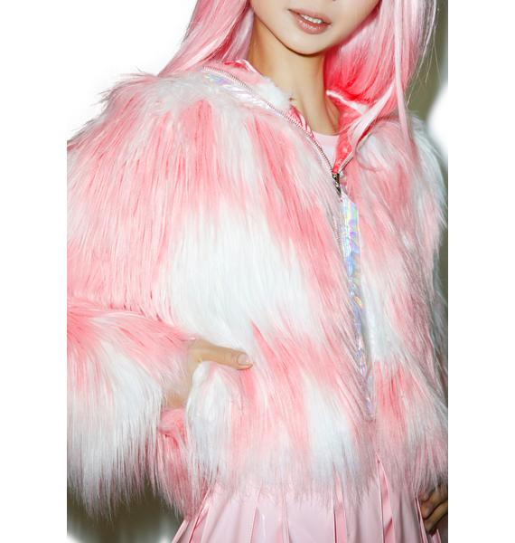 24HRS X Dolls Kill Faux Fur Phenomena Coat
