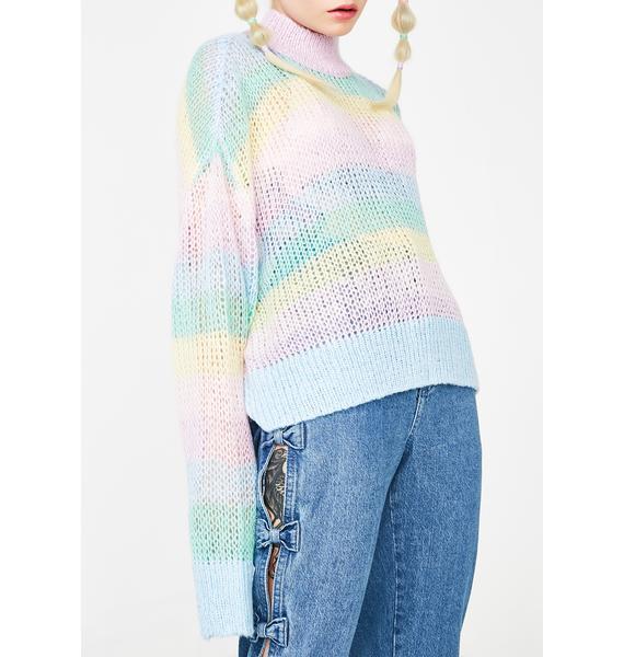 Lazy Oaf Pastel Rainbow Jumper