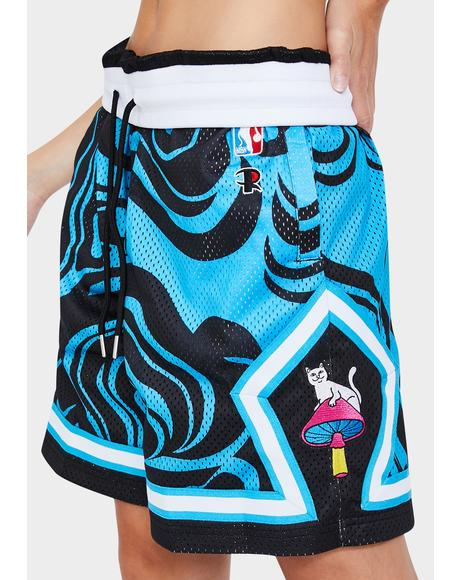 Psychedelic Basketball Shorts