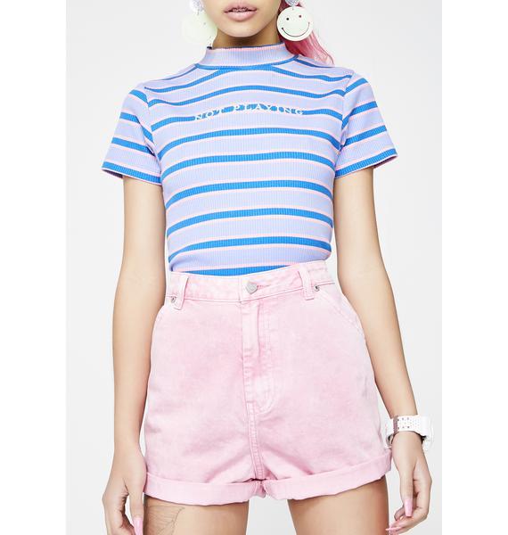 Lazy Oaf I Heart Pink Mom Shorts