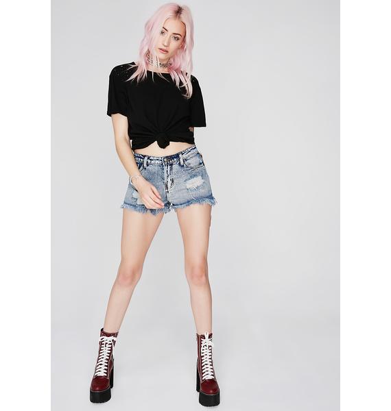 Main Chick Denim Shorts