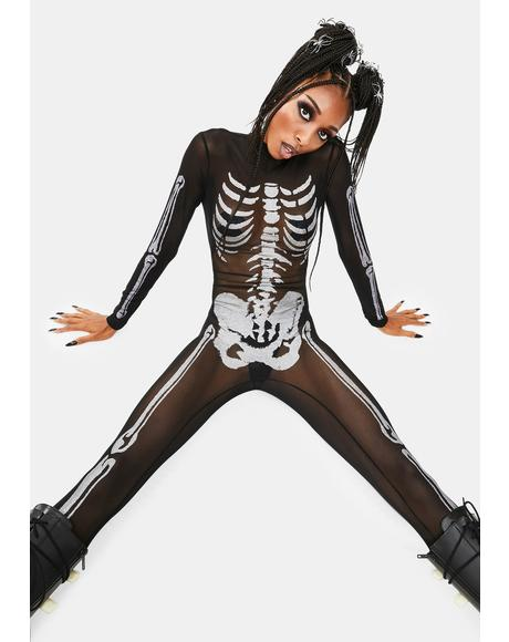 Bare Bones Sheer Skeleton Catsuit