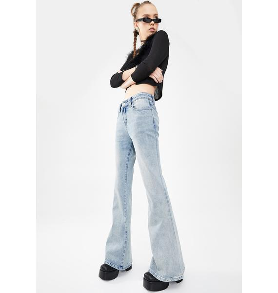 dELiA*s by Dolls Kill Undercover Star Flare Jeans