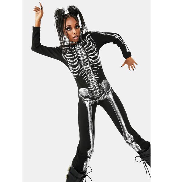 Dolls Kill Lazy Bones Thermal Onesie