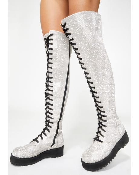 Schmoney Maker Thigh High Boots