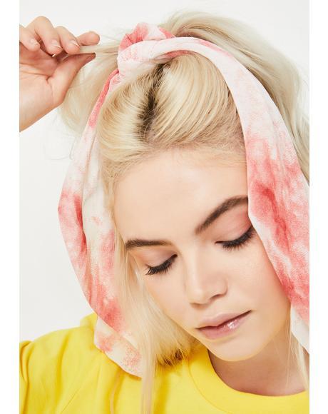 Festive Frenzy Tie Dye Scrunchie