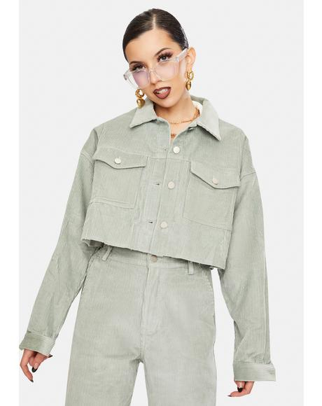 Mint Harriet Corduroy Jacket