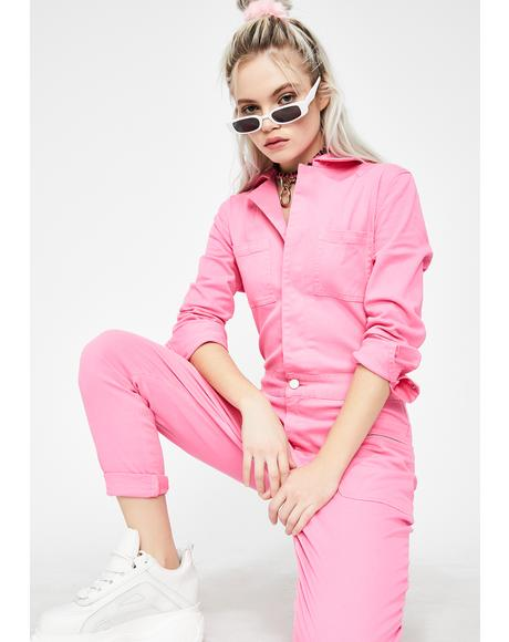 Sweet Stay Woke Utility Flightsuit
