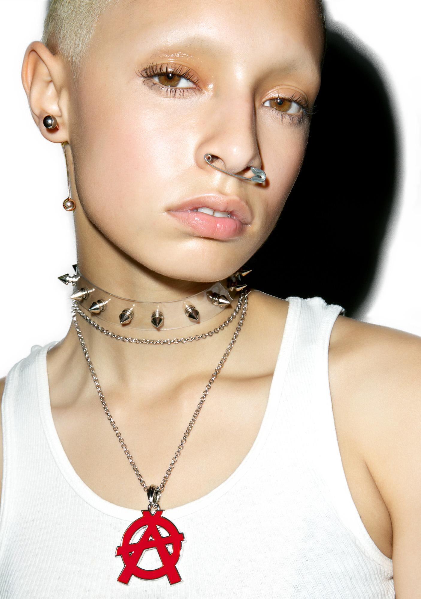 Clearly Spiked Choker