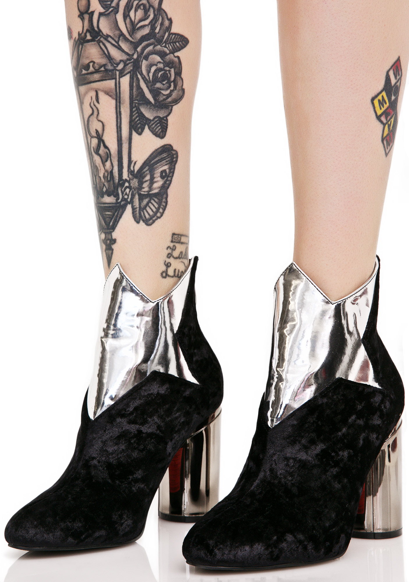 Star Patch Ankle Boots