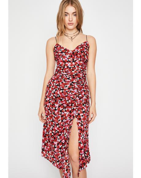 Once N' Flor-al Midi Dress