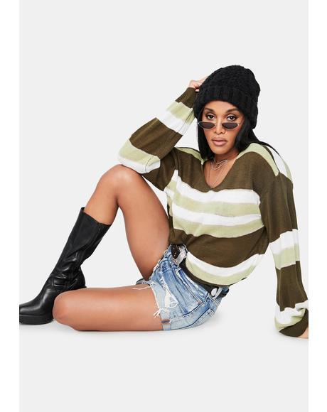 Deceitful Nature Striped Sweater