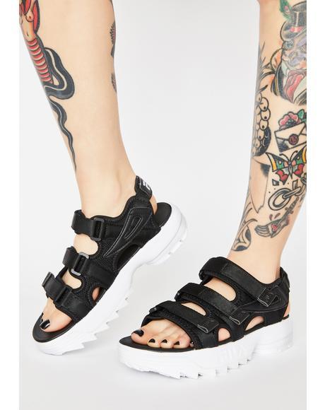 Black Disruptor Platform Sandals