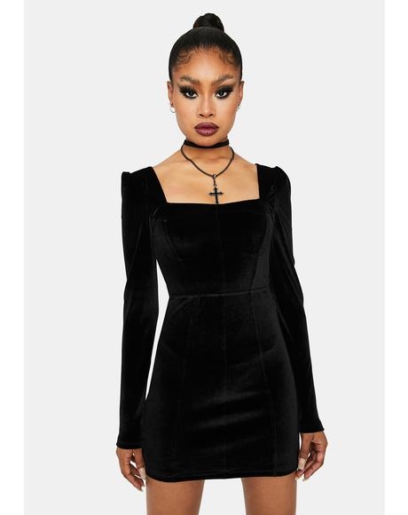 Hot Girl Haunting Velvet Mini Dress
