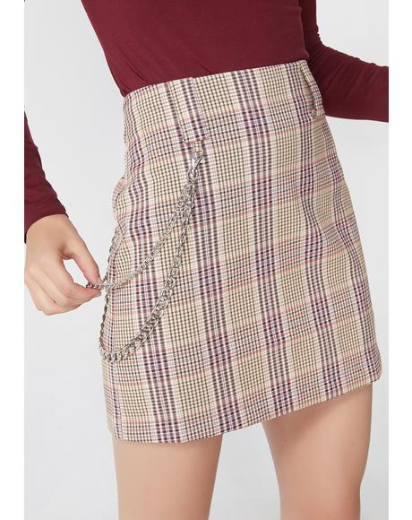 Xxxtra Credit Plaid Skirt