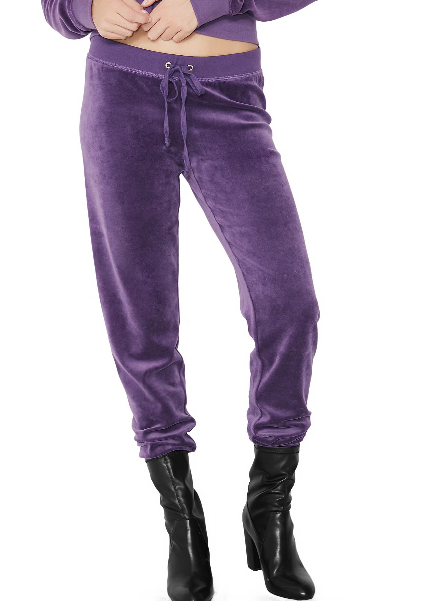 JUICY COUTURE Violet Zuma Velour Pants